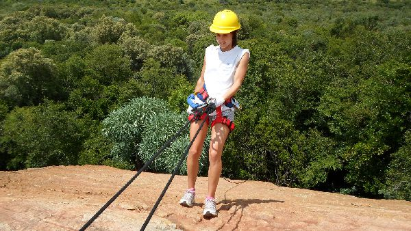 Abseiler at Shelter Rock